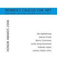 Catalogue PDF - the Women's Caucus for Art