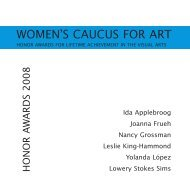 Catalogue PDF - the Women's Caucus for Art