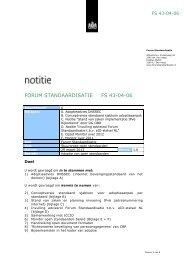 FORUM STANDAARDISATIE FS 43-04-06