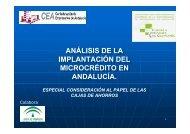 análisis de la implantación del microcrédito en andalucía. análisis ...