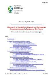 Informe de la Comisión al Consejo y al Parlamento Europeo ...