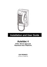 Installation and User Guide Auteldac 4 - PMC Telecom