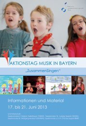 AktIonstAg MusIk In BAyern - Kinderbetreuung in Augsburg