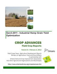 Industrial Hemp Grain Yield Optimization - Ontario Soil and Crop ...