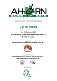 Call for Papers - Swiss Institute Of Navigation :: ION-CH