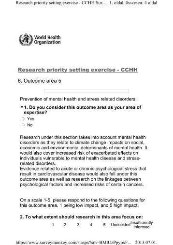 Prevention of mental health and stress related disorders