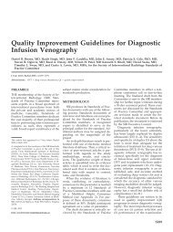 Quality Improvement Guidelines for Diagnostic Infusion Venography