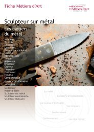 Sculpteur sur métal - Institut National des Métiers d'Art