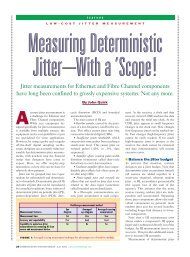 Jitter measurements for Ethernet and Fibre Channel ... - MetricTest