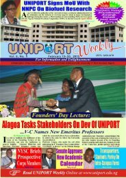 Vol. 8 No. 1 February 13 - University of Port Harcourt