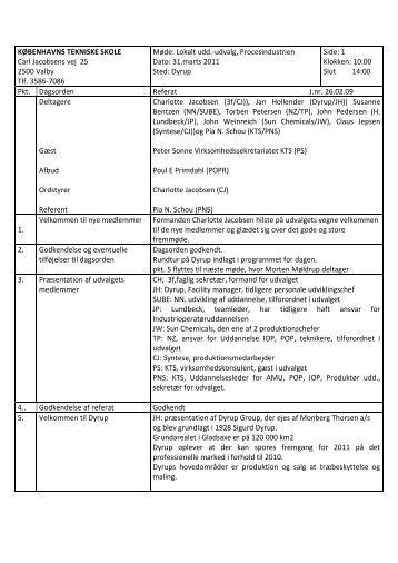 Referat Proces 310311 - Københavns Tekniske Skole
