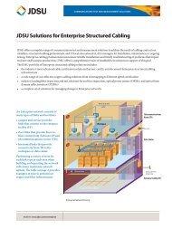 JDSU SolUtionS for EntErpriSE nEtworkS - Bimel