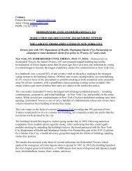 press release - Smoke Free Housing Ontario