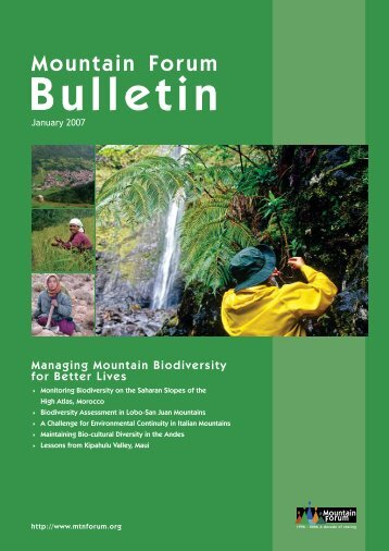 January 2007 Mountain Forum Bulletin - University of Hawaii