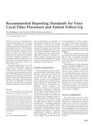 Recommended Reporting Standards for Vena Caval Filter ...