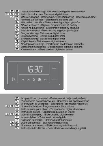 Gebrauchsanweisung - Elektronische digitale Zeitschaltuhr ...