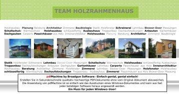 (kurz) - TEAM Holzrahmenhaus e.V. (PDF-Dokument; 644 KB)