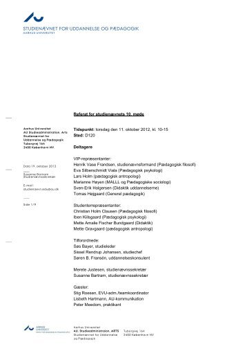 studienævnet for uddannelse og pædagogik - For Studerende ...