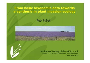 From basic taxonomic data towards a synthesis in plant ... - epbrs