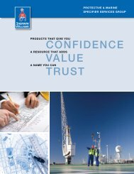 View PDF of brochure - Protective Coatings, Protective & Marine ...