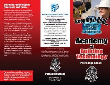 Download the brochure! - Pasco County Schools