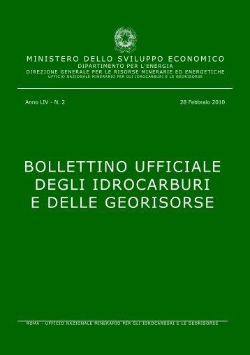 LIV-2 - Unmig - Ministero dello Sviluppo Economico