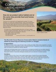 Conserving Critical Habitat - Riverside-Corona Resource ...