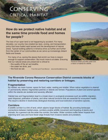 Conserving Critical Habitat - Riverside-Corona Resource ...