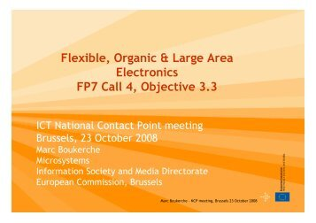 Flexible, Organic & Large Area Electronics FP7 Call 4 ... - RTD