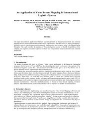This paper describes the application of a lean logistics approach for ...