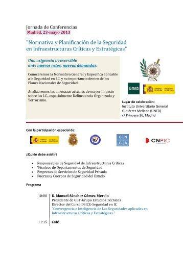 Normativa y Planificación de la Seguridad en Infraestructuras ... - IEEE