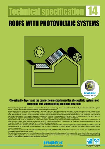 ROOFS WITH PHOTOVOLTAIC SYSTEMS - Index S.p.A.