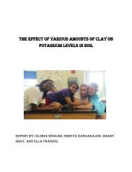 The effect of various amounts of clay on potassium levels in soil