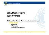Sihteerin tehtävät - Suomen Lions-liitto ry