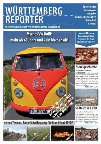 PDF zum Download - Württemberg Reporter Magazin