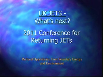 What's Next? - The JET Programme