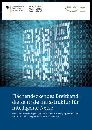 Flächendeckends Breitband - die zentrale Infrastruktur für ... - IT-Gipfel