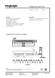 12SEGMENT BAR GRAPH ARRAY Package Dimensions & Internal ...