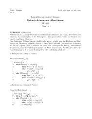 Beispiellösung zu den ¨Ubungen Datenstrukturen und Algorithmen ...
