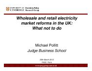 Wholesale and retail electricity market reforms in the UK: What not to ...