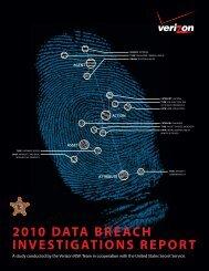 2010 DATA BREACH INVESTIGATIONS REPORT - Verizon Business
