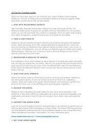 10 Tips for Treading Lightly - Destination Melbourne
