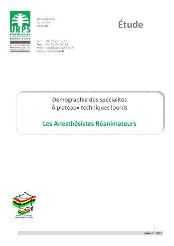 Anesthésie / Réanimation - L'Union Régionale des Professionnels ...
