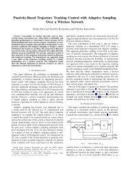 Passivity-Based Trajectory Tracking Control with Adaptive Sampling ...