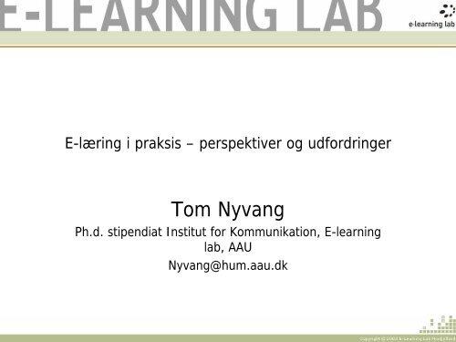 E-læring i praksis - perspektiver og udfordringer - EPJ-Observatoriet
