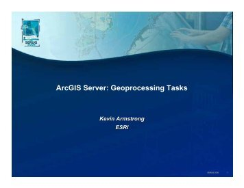 ArcGIS Server - Geoprocessing Tasks - Esri