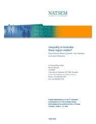 Inequality in Australia: Does region matter? - NATSEM - University of ...