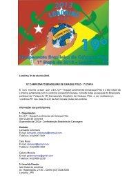 Londrina, 01 de Abril de 2013. 19º CAMPEONATO BRASILEIRO DE ...