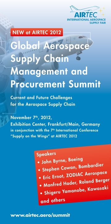 Global Aerospace Supply Chain Management and ... - Airtec