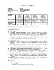 CV Adi BASA.pdf - Facultatea de Agricultură